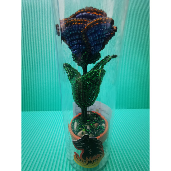 Malignant flowers from sand beads.