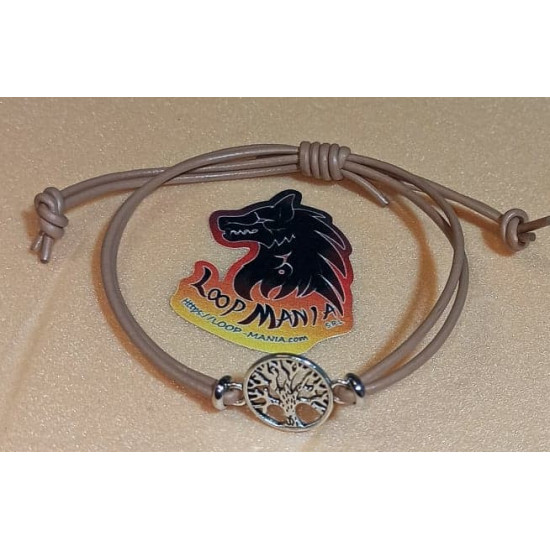 Leather bracelet with metal beads. Made of natural leather 2 threads 2mm with infinite metal beads and hamsa hand made of Tibetan silver. Universal size with sliding closures made of natural leather.