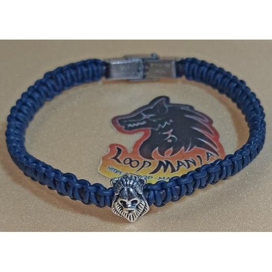 Cord bracelet woven of natural leather. Made of 4 mm leather cord, 1 mm natural leather cord, hand-woven different colors, stainless steel spacer, silver metal beads and stainless steel band clasps, model 5 lobster clasp with 5 cm extension. Model size 1