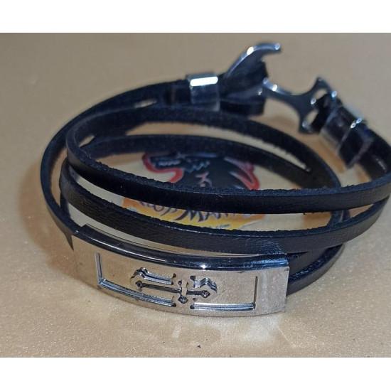 Natural leather cord bracelet.