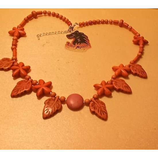 Necklace made of howlite spheres, stars and leaves. approx. 53-55-57-60- + 5 cm extension. Beads, silver-plated silver-plated spacers. Handmade on silicone wire, silver-plated lobster clasp. Yellow-cream 60 cm, orange 55 cm, purple 53 red 57 cm + 5 cm ex