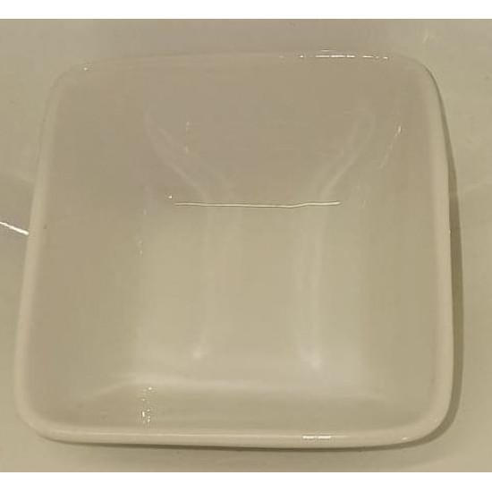 Mini bowl, square porcelain top. Size 6X6 cm.