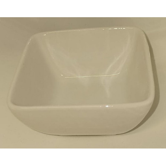Mini bowl, square porcelain top. Size 6X6 cm.