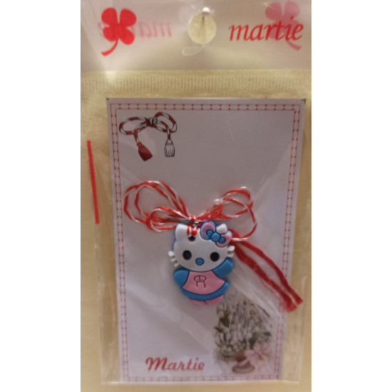 Rubber pendant March ornaments. Hello Hello Kitty blue kitten.