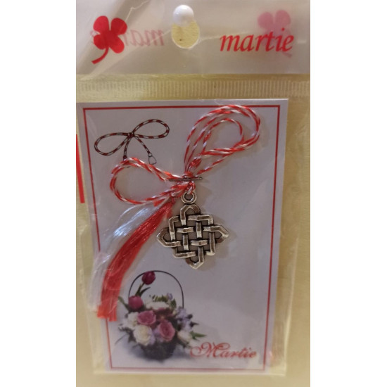 March ornaments with charm Celtic knots.